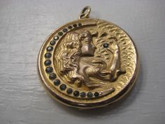 Vintage Victorian Art Nouveau Gold Filled GF Large Locket