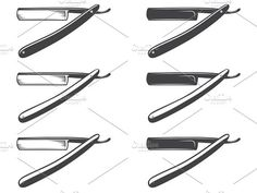 Straight razor vector.. Objects. $5.00