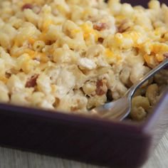 Savoury Garlic Mac and Cheese with Bacon! #lunch