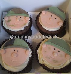 Soldier cupcakes (@Kathy Chan Hodson)