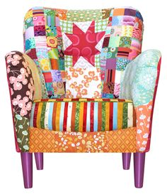 Fåtölj som vår quiltgrupp gjorde till quiltutställningen 2013  Members from our quilt group did this armchair 2013 to the exhibition we had in our town