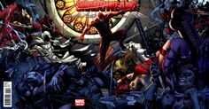 Cover for Shadowland (Marvel, 2010 series) #1 [Limited Sketch Gatefold Variant Cover]