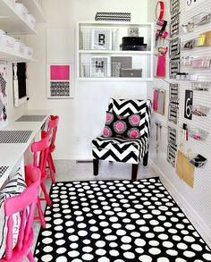 Diva Den. Office. Trade pink for lime green and add some bling!