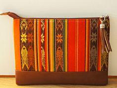 Clutch bag pochette en cuir avec bandoulière Inkillay