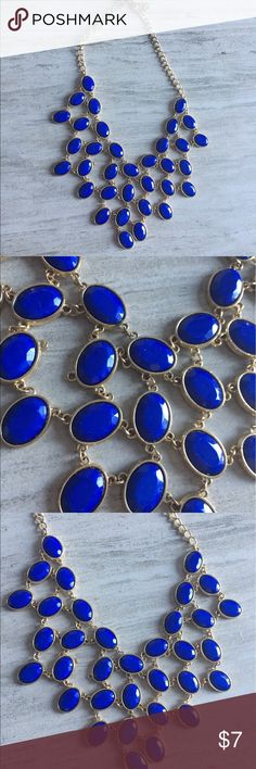 Blue statement necklace Very pretty blue statement necklace. PICK TWO JEWELRY FOR $8 Jewelry Necklaces