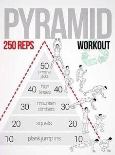 250 reps pryamid workout