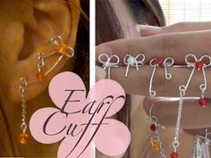 If you want to skip ahead past the promo where I show you past and future tutorial images go ahead . This is a tutorial on how to make Ear cuffs from be. Wire Jewelry Designs, Jewelry Patterns, Jewelry Crafts, Jewelry Ideas, Ear Cuff Jewelry, Wire Earrings, Beaded Jewelry, Ear Cuff Tutorial, Wire Ear Cuffs