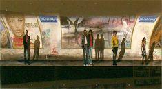 Anne Boille - Pinturas del metro de París