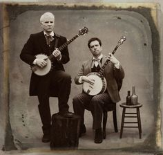 Steve Martin & Ed Helms. banjo players -- oh yeah, and actors, too! Ed Helms, Murder Mysteries, Cozy Mysteries, Picture Day, Folk Music, Funny People, Funny Guys, Funny Men, That's Hilarious