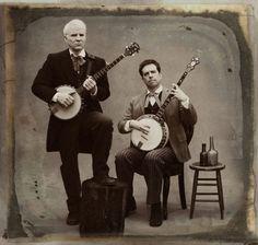 Steve Martin and Ed Helms, by Sam Jones