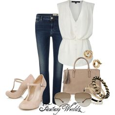 "Woman's fashion ""Simple & Sweet Weekend outfit Idea"" by fantasyworldz on Polyvore"