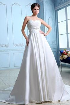 CLICK IMAGE TWICE FOR PRICING AND INFO:) #women #womendresses #eveninggown #cocktaildress #wedding #weddinggown #eveningdresses #prom #debut  Elegant Empire Sweetheart Satin Chapel Train Wedding Dress WEM05006-G