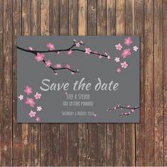 Cherry blossom save the date - Save The Date - Tuesday Sky - About to be Hitched