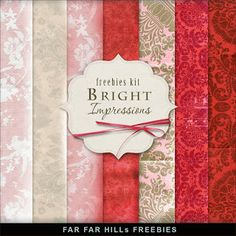 Freebies Kit of Backgrounds - Bright Impressions
