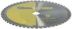 """Tungsten Carbide Tipped 54 tooth, 9"""" diameter blade for cutting stainless steel up to 1/8"""" thick.  1"""" arbor is designed for the #Steelmax S9 portable metal cutti..."""