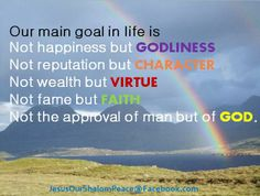 Our main goal in life is...