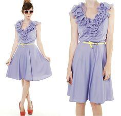 Periwinkle Ruffle Dress