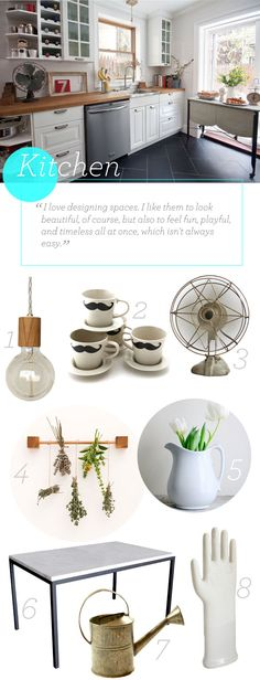 Accessories for a kitchen with retro appeal.
