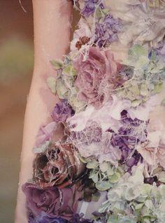 Alexander McQueen green lavander chiffon flowers dress, ooohhh for my bridesmaids!! love this