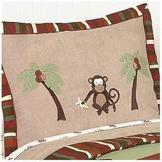 Sweet Jojo Designs Monkey Sham