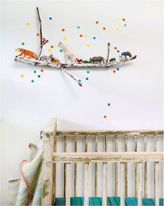 A few colourful dots on the wall can highlight a design feature or just add a playful touch to a kids room.