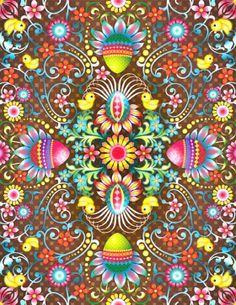 From print & pattern: another beautiful print by Catalina Estrada Art Et Illustration, Illustrations, Catalina Estrada, Textures Patterns, Print Patterns, Easter Wallpaper, Design Textile, Grafik Design, Psychedelic Art