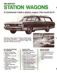 1968 Mercury Colony Park Station Wagon