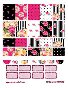 Free Printable Betsy Inspired Planner Stickers at Planner Pickett