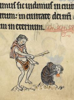 British Library,  Add MS 62925, detail of f. 51r. Psalter, Use of Sarum (The Rutland Psalter). c. 1260