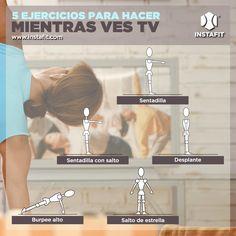 Rutina de ejercicios para hacer en casa mientras ves TV ¡No hay pretextos!