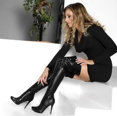 Admiring her boots, who wouldn't there lovely oxoxo