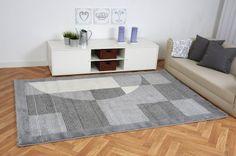 Moderner Teppich Inspiration Quadrat grau