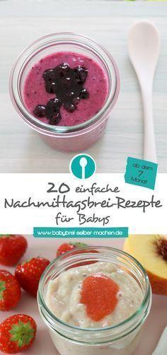 Über 20 einfache Rezepte für selbstgemachten Nachmittagsbrei mit Getreide und Obst.