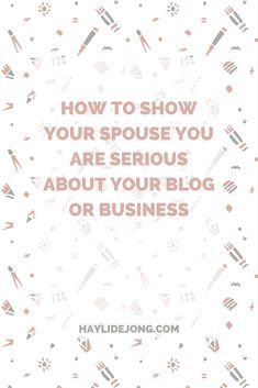 Is your spouse not totally on board with your business goals? Do they have no clue or care what a blog even is? Here are some of the things that I did to help my husband see that it is not just a waste of money or time.