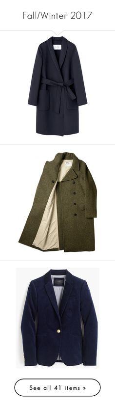 """Fall/Winter 2017"" by heteroglossia ❤ liked on Polyvore featuring outerwear, coats, jackets, płaszcze, the row, blue coat, coats & jackets, knee length pea coat, fur-lined coats and pea jacket"
