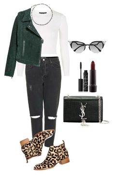 """""""Senza titolo #1515"""" by monsteryay ❤ liked on Polyvore featuring Topshop, Lanvin, MANGO, Jeffrey Campbell, Yves Saint Laurent, NARS Cosmetics, MAC Cosmetics and Fendi"""