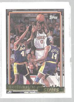 Jerrod Mustaf Basketball Topps Gold 1992-93 Phoenix Suns #43   #PhoenixSuns
