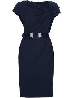 ARMANI  Draped Belted Dress