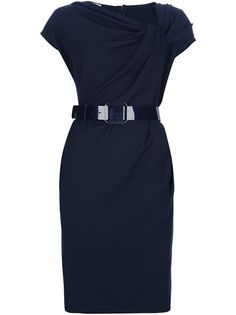 ARMANI  Draped Belted Dress