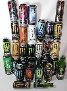 Monster Energy Drink Can Collection Empty 31 Total All Different Man Cave Crafts | eBay