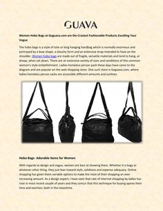 Women hobo bags  Buy Women Hobo Bags from Online Store at Goguava