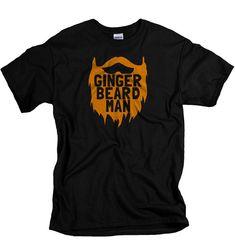 Ginger Beard Tshirt ginger beard man t shirt for men ginger shirt beard t shirts funny beard gifts for gingers redheads redhead shirts