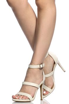 Ivory Faux Leather Single Sole Heels @ Cicihot Heel Shoes online store sales:Stiletto Heel Shoes,High Heel Pumps,Womens High Heel Shoes,Prom Shoes,Summer Shoes,Spring Shoes,Spool Heel,Womens Dress Shoes
