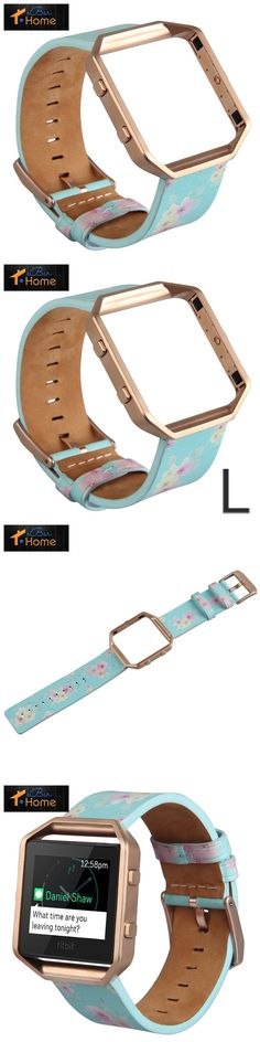 Fit Tech Parts and Accessories 179799: V-Moro For Fitbit Blaze Band, Large Leather Bracelet Strap Replacement Band With -> BUY IT NOW ONLY: $39.14 on eBay!