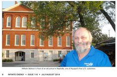 Wilhelm Mohorn in front of an old school in Nashville, one of Aquapol's first U.S customers. International News, Dont Understand, Infinite, Nashville, Old School, Places To Visit, Magazine, Water, Gripe Water