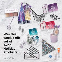 Enter to win! Each week until December 1 lucky winner will be randomly chosen to receive this holiday gift set -- and be entered to win the ULTIMATE Holiday Gift Set, filled with every Avon holiday product. Sara Beauty, The Ultimate Gift, Beauty Inside, How To Feel Beautiful, Before Christmas, Giving, Some Fun, Holiday Fun, Health And Beauty