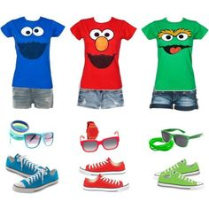 Sesame Street Outfit!! Mommy and Aunties outfits x=)