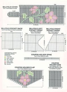 Cabbage Rose Set Plastic Canvas Pattern 3/4