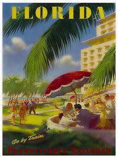 Old Florida, Vintage Florida, Florida Travel, Vintage Hawaii, Mexico Travel, Train Art, By Train, Vintage Films, Vintage Ski