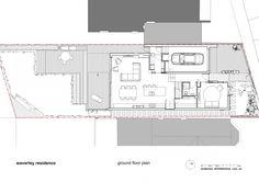 Ground Floor Plan Gorgeous Modern Residence Displaying a Interesting Asymmetrical Facade in Sydney